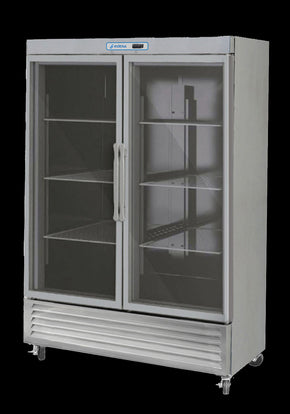 Reach In 2 GLASS door refrigerator cooler 49 cu ft - Tamirson