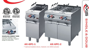 Pasta Cooker Gas Floor Model Axis AX-GPC-1 Single Tank - Tamirson