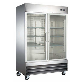 "Reach-In Refrigerator 2 glass doors stainless Steel 54"" CFD-2RR-G-HC Coldline $ - Tamirson"