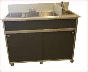 "Portable Sink Mobile 4 Compartment 3 compartment plus 1 hand sink 50"" inch custom made $2695 - Tamirson"