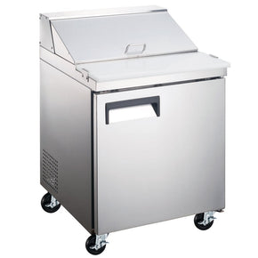 "Sandwich Prep Refrigerator TABLE 1 DOOR 27"" SCL1-HC Coldline $995 - Tamirson"