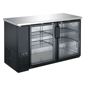 Back bar cooler Glass Door UBB-24-60G-HC 60″ coldline Black Counter Height Narrow Refrigerator $1295 - Tamirson