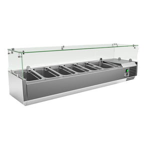 Counter Top Salad Bar VRX1500/380FG 59″ Topping Rail $995 - Tamirson