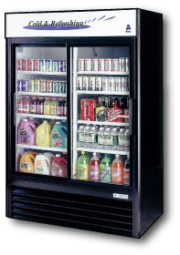 Two Glass Door Merchandiser Cooler, 47 cu.ft. - Tamirson