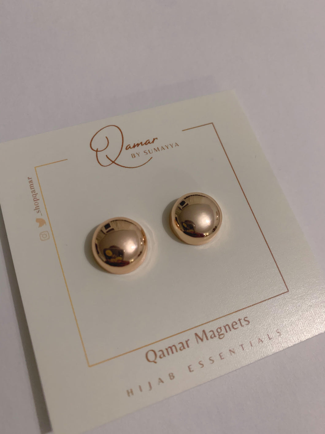 Qamar Magnets | Rose Gold