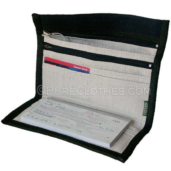Hemp Checkbook Wallet