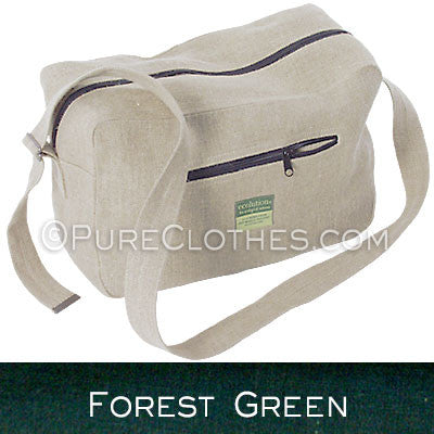 Carry-on Hemp Duffel Bag (Forest Green)