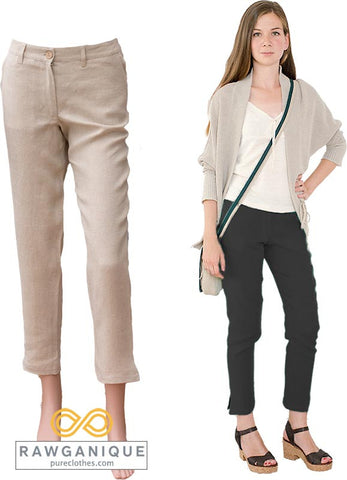 Women's Hemp Pants. European Hemp. Sweatshop-free.