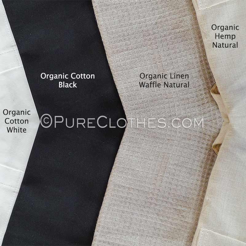 organic hemp apron swatch