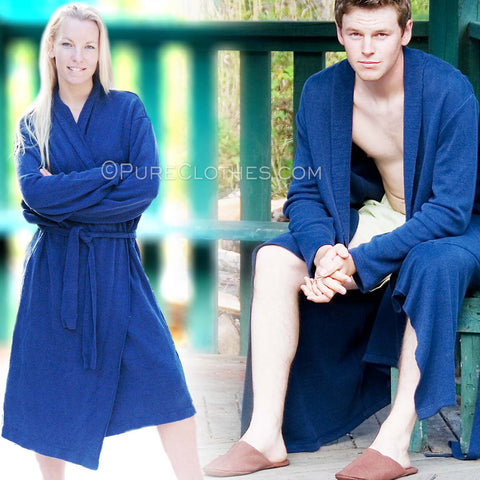 100% Hemp Knit Bathrobe