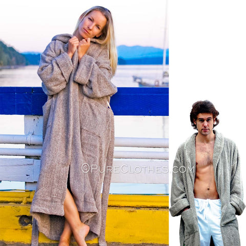 Organic Linen Terry Bathrobe