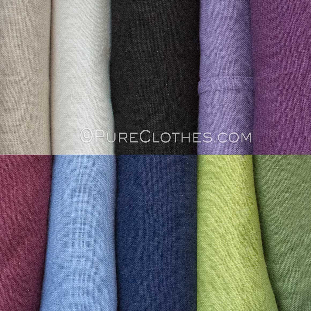 Hemp Shower Curtain Swatches