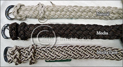 European Hemp Braided Belts
