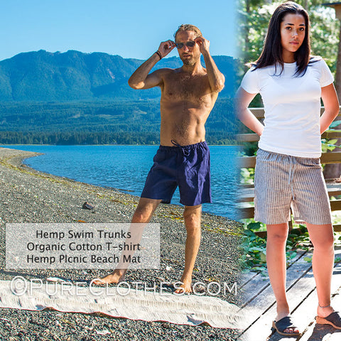 Hemp Linen Swimming Trunks (Lined)
