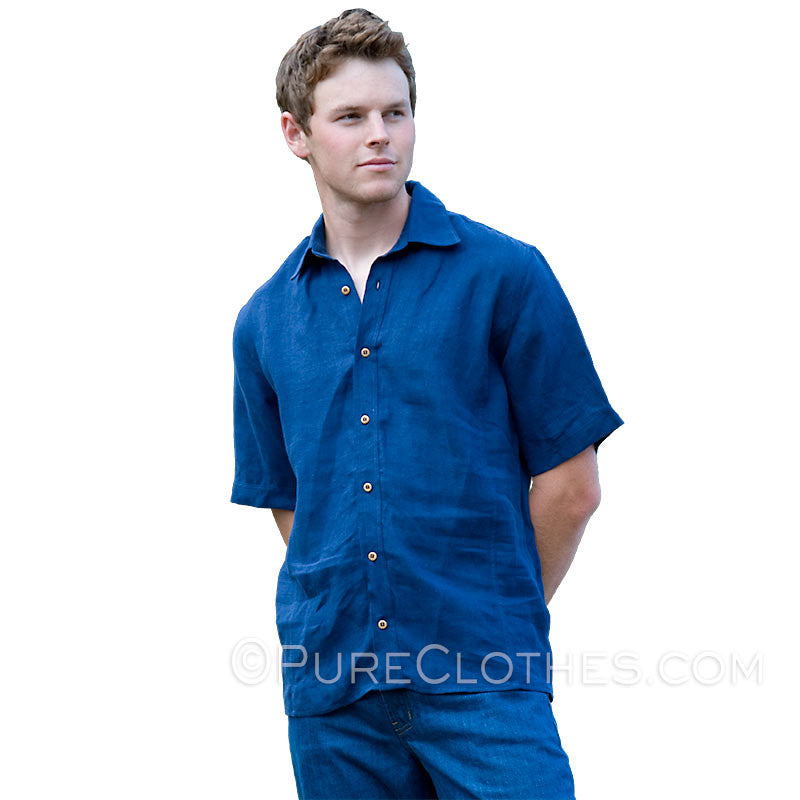 Short-Sleeve Hemp Shirt