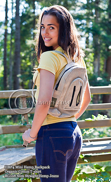 Organic European Hemp Mini Backpack