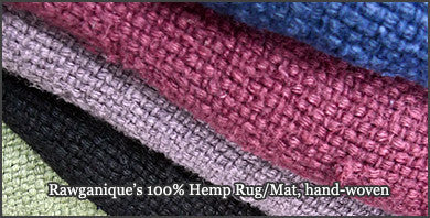 100% Organic European Hemp Area Rugs