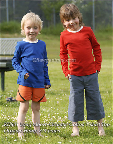 Organic Cotton Kids' T-shirt Top. Made in Europe. Sweatshop-free.