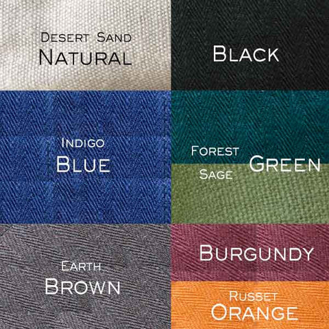 hemp color swatches