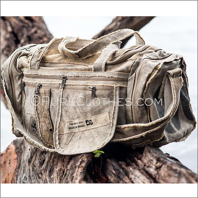Recycled Tarp Duffel Bag