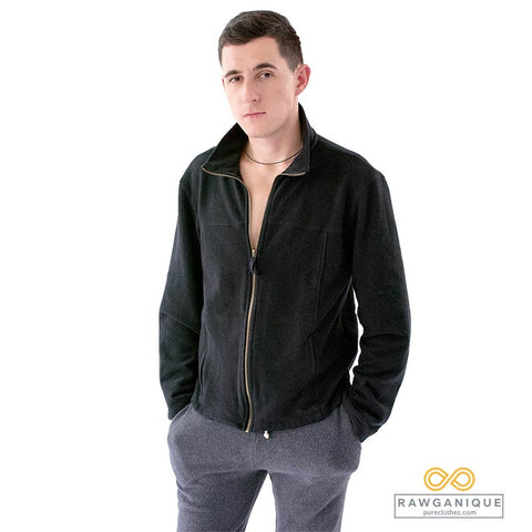 Organic Cotton Fleece Jacket. Sweatshop-free Europe.