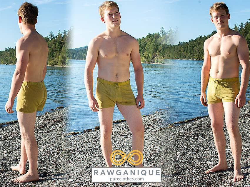 100% Hemp Knit Boxers. Sweatshop-free Europe.