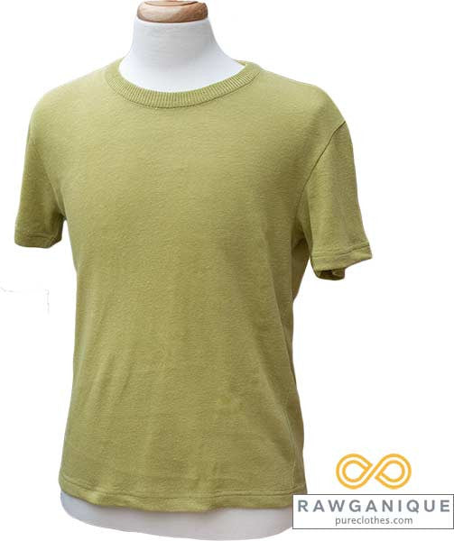 Hemp knit S/S T-shirt from organically grown European Hemp. Sweatshop-free.