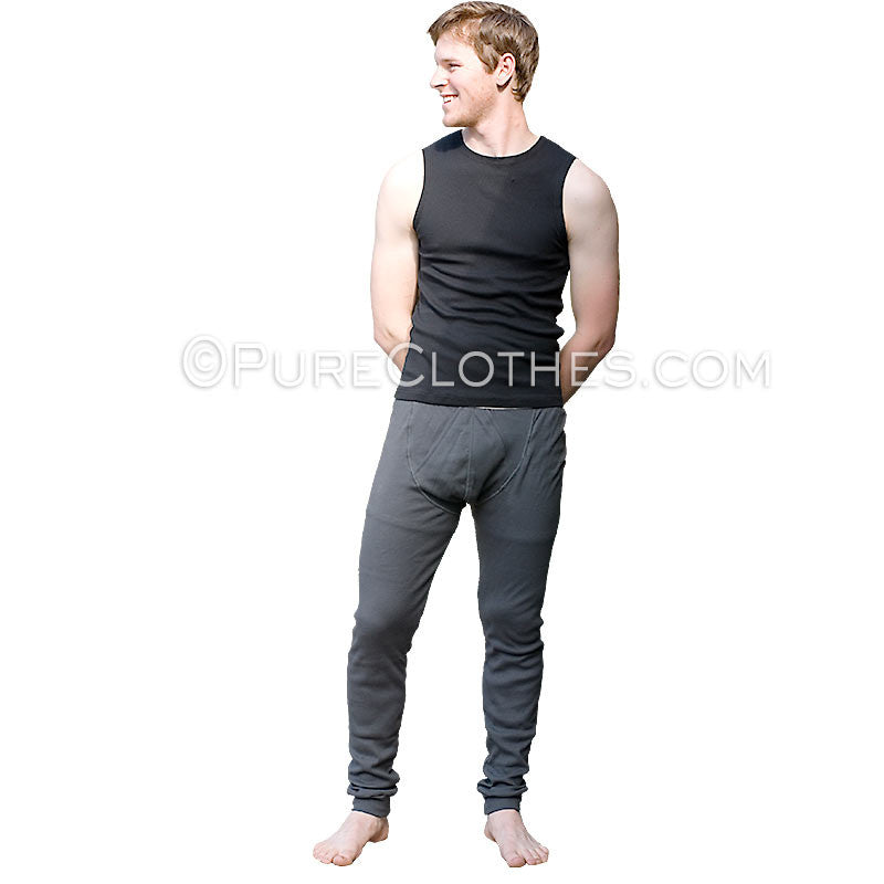 Organic Cotton Ribbed Knit Long Johns