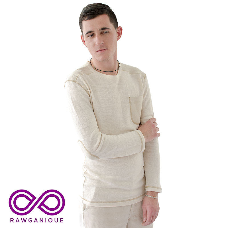 Organic European Hemp Knit Long-sleeve Tee Top