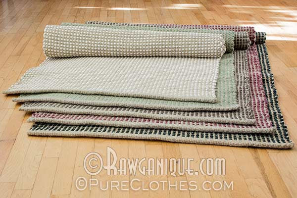 Organic Hemp - Cotton Area Rug. Made in Europe. Sweatshop-free.