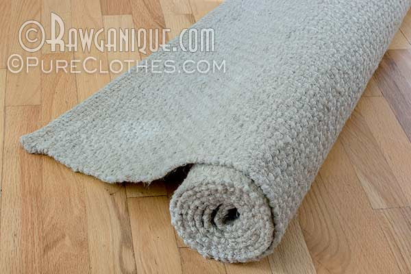 100% Organic European Hemp Rug. Sweatshop-free.