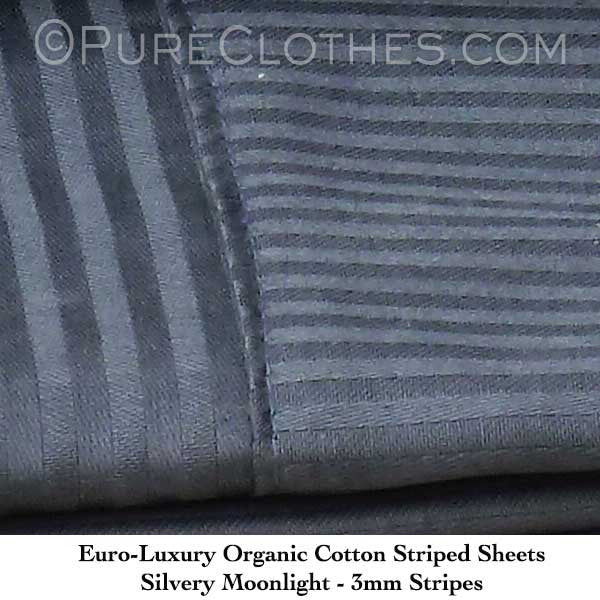 Jacquard Silvery Moonlight Stripes