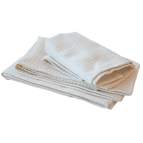 Organic Hemp Honeycomb Bath Towels