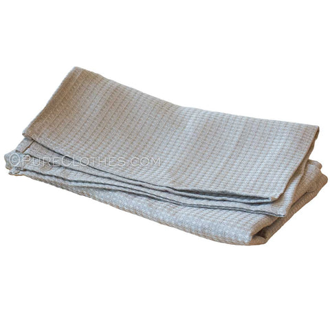 Organic linen honeycomb towels