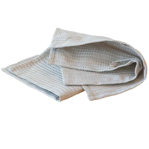 organic linen honeycomb wash cloth
