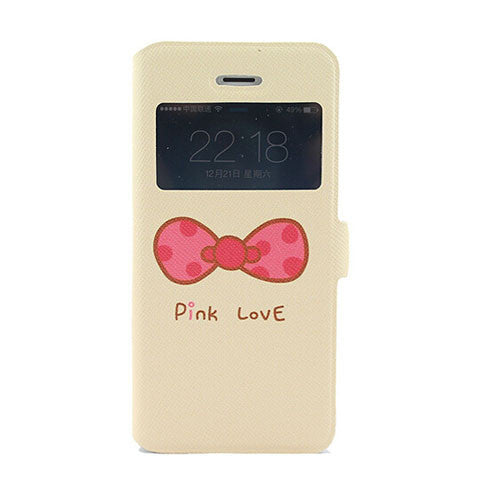 Lichee Pattern Leather Iphone 5 Case Pink Love