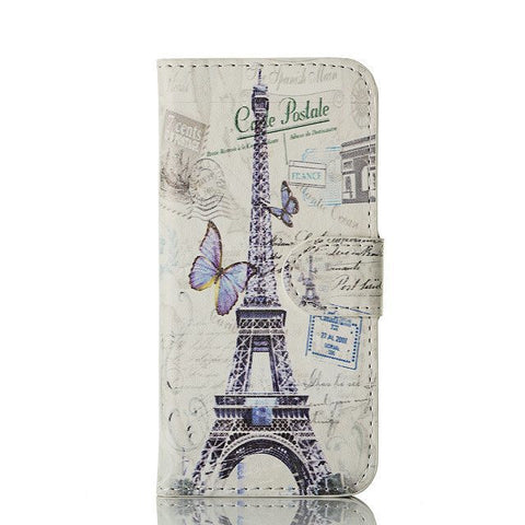 Butterfly Eiffel Tower Painting Iphone 5 Case