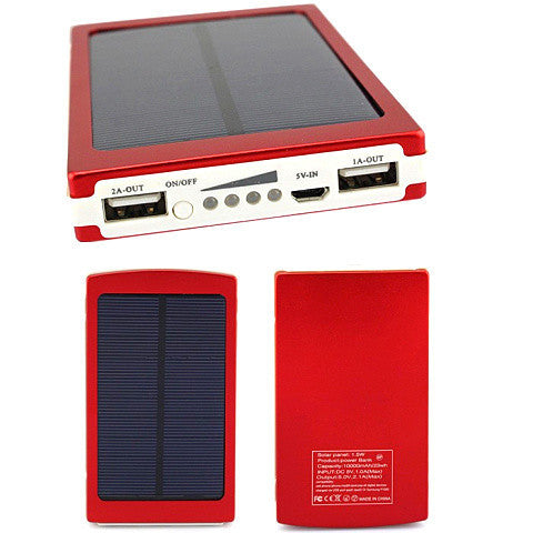 Full 10000Mah External Solar Power Bank