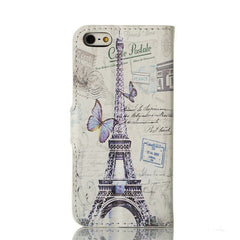 Butterfly Eiffel Tower Painting iPhone 5 Case - BoardwalkBuy - 2