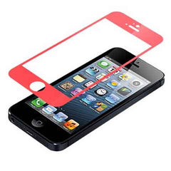 iPhone 5 Premium Shock Proof Tempered Glass Screen Protector Cover red - BoardwalkBuy - 1