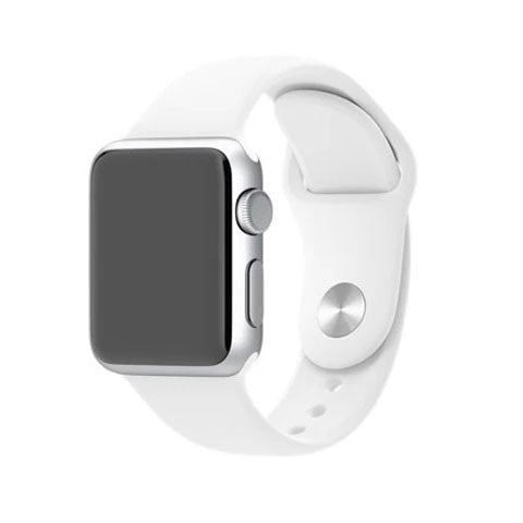 Silicone Strap Band for Apple Watch White - BoardwalkBuy