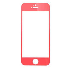 iPhone 5 Premium Shock Proof Tempered Glass Screen Protector Cover red - BoardwalkBuy - 2