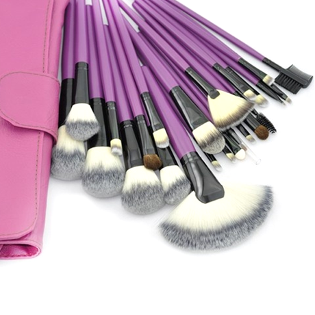 Purple Tulip 24 Piece Brush Set - BoardwalkBuy - 1