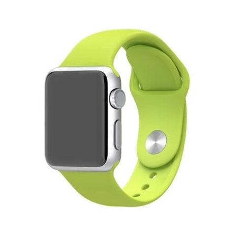 Silicone Strap Band for Apple Watch Green - BoardwalkBuy