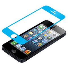 iPhone 5 Premium Shock Proof Tempered Glass Screen Protector Cover sky blue - BoardwalkBuy - 1