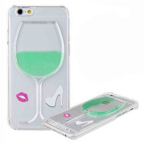 High-heeled Wine Cup Stand Case for iPhone 5
