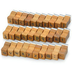 Retro Style Alphabet Stamp  -  DEEP BROWN - BoardwalkBuy - 4