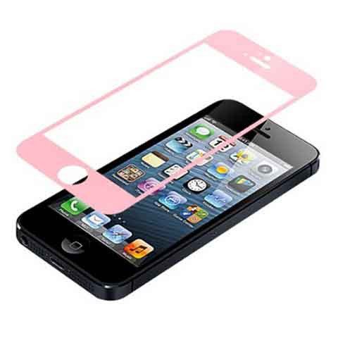 iPhone 5 Premium Shock Proof Tempered Glass Screen Protector Cover pink - BoardwalkBuy - 1