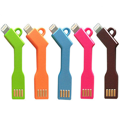 KEY USB CABLE Charge Sync for iPhone 5 | 5c | 5s | 6 | 6plus - BoardwalkBuy - 1