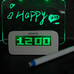 LED Fluorescent Message Board Digital Alarm Clock with 4 Port USB Hub - BoardwalkBuy - 3